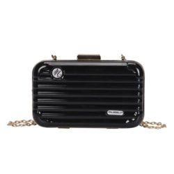 B5502-black Tas Selempang Mini Koper Import Cantik