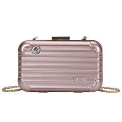 B5502-pink Tas Selempang Mini Koper Import Cantik