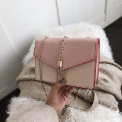 B5530-pink Tas Selempang Stylish Kekinian Import