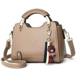B629-khaki Tas Handbag Elegan Gantungan Bear Import Terbaru