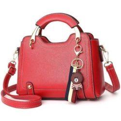 B629-red Tas Handbag Elegan Gantungan Bear Import Terbaru