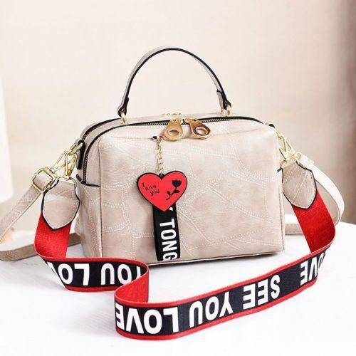B6366-beige Tas Selempang Fashion Import Wanita