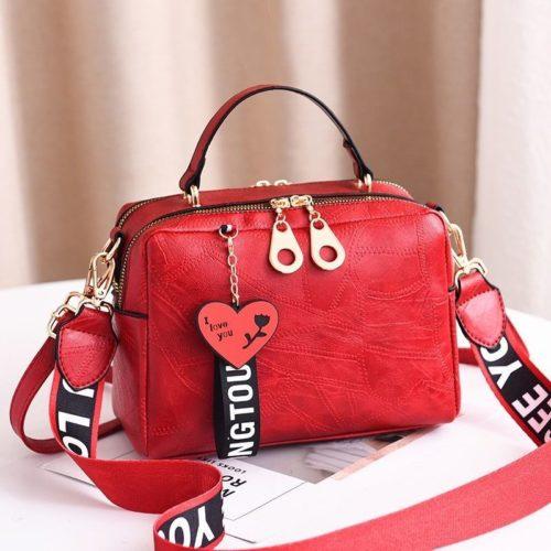 B6366-red Tas Selempang Fashion Import Wanita