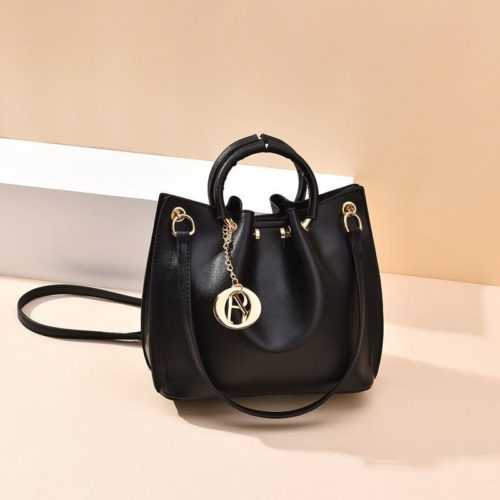 B6821-black Tas Jinjing Minimalis Dengan Tali Selempang