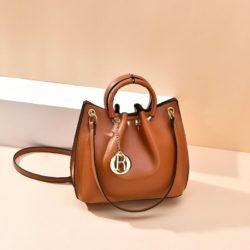 B6821-brown Tas Jinjing Minimalis Dengan Tali Selempang