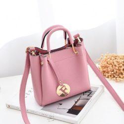 B6822-pink Tas Selempang Wanita Stylish Terbaru