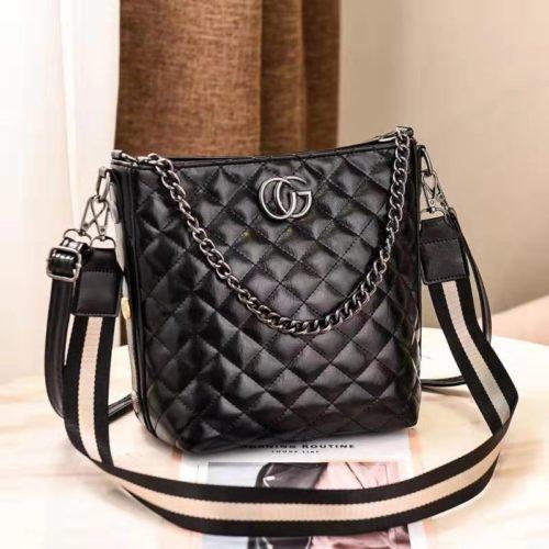 B6826-black Tas Selempang Quilted Elegan Import Terbaru