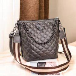 B6826-gray Tas Selempang Quilted Elegan Import Terbaru