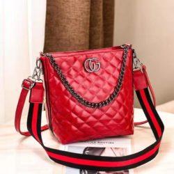 B6826-red Tas Selempang Quilted Elegan Import Terbaru