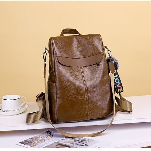 B813451 JKT IDR.162.000 MATERIAL PU SIZE L29XH32XW13CM WEIGHT 500GR COLOR BROWN