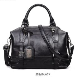 B819566-black Tas Handbag Casual Cantik Terbaru