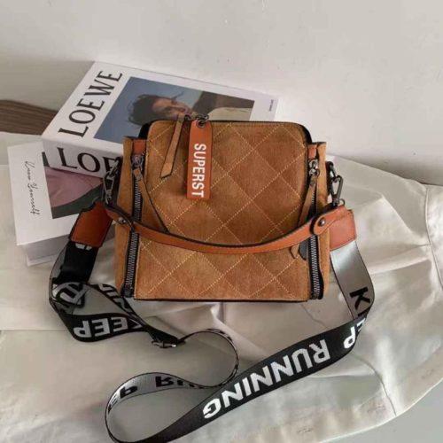 B82281-brown Tas Selempang Fashion Wanita Cantik Terbaru