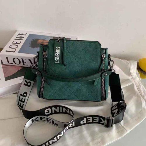 B82281-green Tas Selempang Fashion Wanita Cantik Terbaru