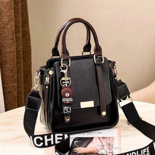 B8491-black Tas Handbag Selempang Gantungan Mini Brown