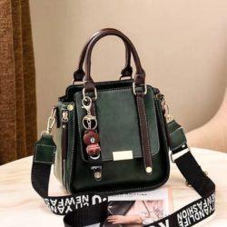 B8491-green Tas Handbag Selempang Gantungan Mini Brown