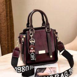 B8491-purple Tas Handbag Selempang Gantungan Mini Brown