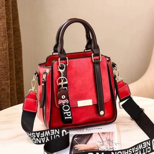B8491-red Tas Handbag Selempang Gantungan Mini Brown