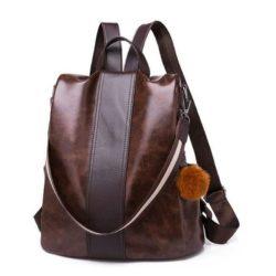B8778-brown Tas Ransel Fashion Stylish Wanita Elegan