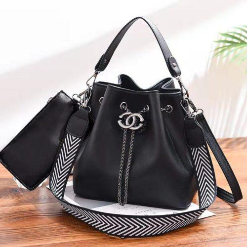 B88012-black Tas Pesta Wanita Elegan Import Terbaru
