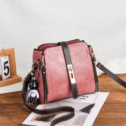 B88090-darkpink Tas Pesta Elegan Gantungan Black Bear Import