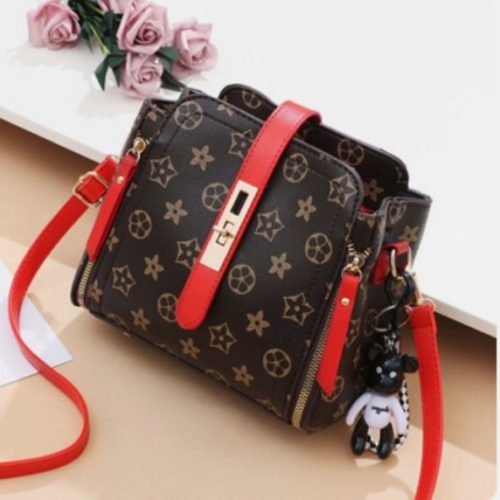 B88090-5starred Tas Pesta Elegan Gantungan Black Bear Import
