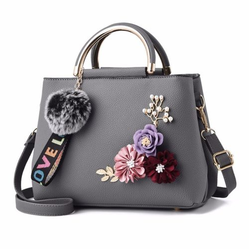 B8859-gray Tas Fashion Import Wanita Cantik