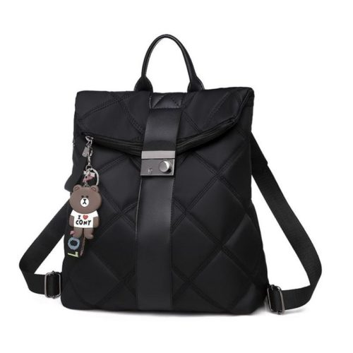 B889-black Tas Ransel Wanita Gantungan Love Cony