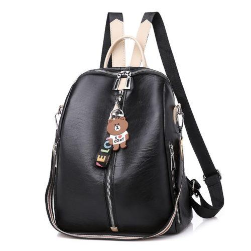 B90010-black Tas Ransel Wanita Cantik Import Terbaru