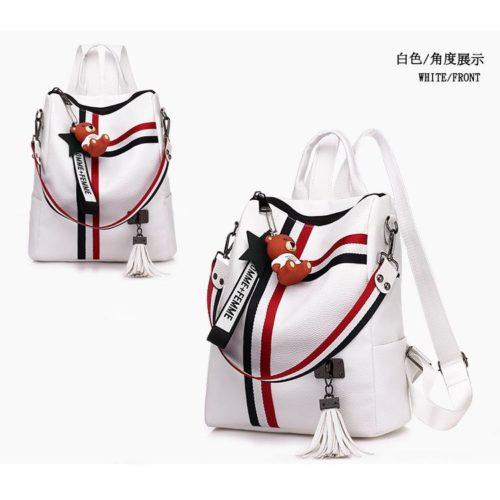 B910-white Tas Ransel Fashion Stylish Terbaru 2020