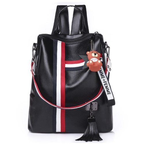 B910 JKT IDR.162.000 MATERIAL PU SIZE L27XH30XW12CM WEIGHT 500GR COLOR BLACK
