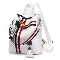 B910 JKT IDR.162.000 MATERIAL PU SIZE L27XH30XW12CM WEIGHT 500GR COLOR WHITE