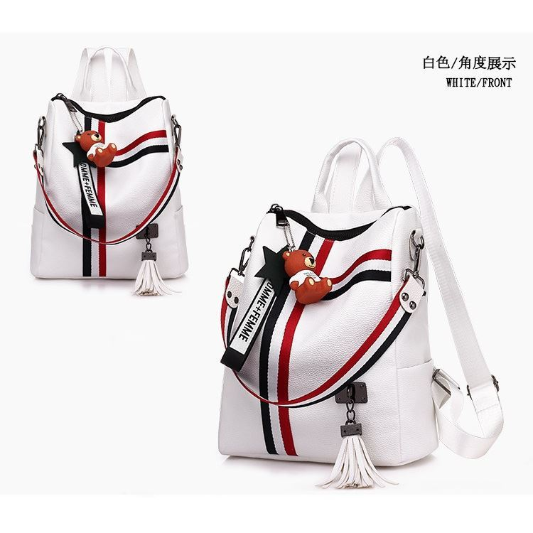 B910 JKT IDR.163.000 MATERIAL PU SIZE L27XH30XW12CM WEIGHT 500GR COLOR WHITE