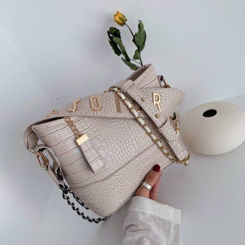 B9170-beige Tas Selempang Wanita Elegan Fashion Import