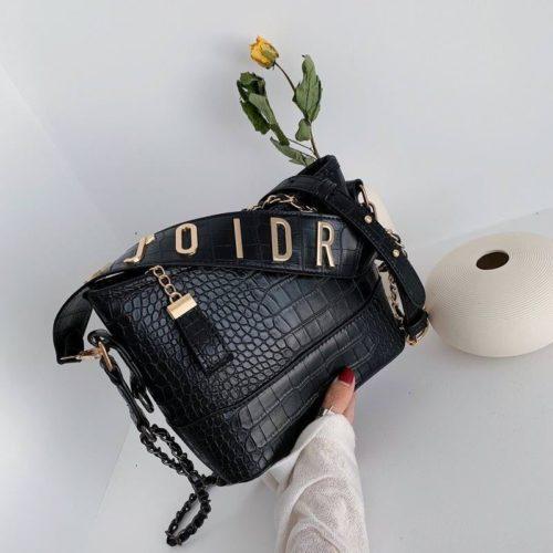 B9170-black Tas Selempang Wanita Elegan Fashion Import