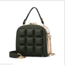 B98876 IDR.180.000 MATERIAL PU SIZE L15.5XH16XW8.5CM WEIGHT 800GR COLOR DARKGREEN