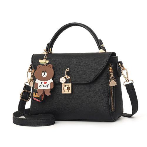 B99021-black Tas Handbag Wanita Cantik Import