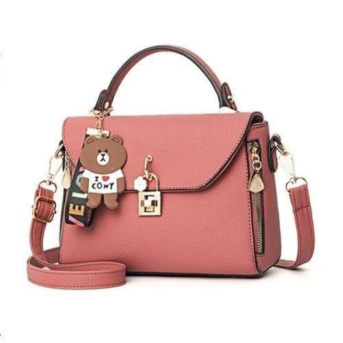 B99021-darkpink Tas Handbag Wanita Cantik Import