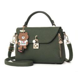 B99021-green Tas Handbag Wanita Cantik Import