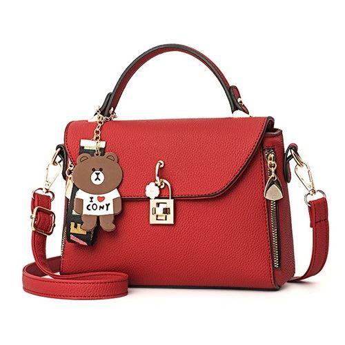 B99021-red Tas Handbag Wanita Cantik Import