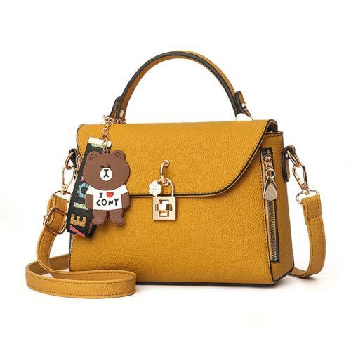B99021-yellow Tas Handbag Wanita Cantik Import