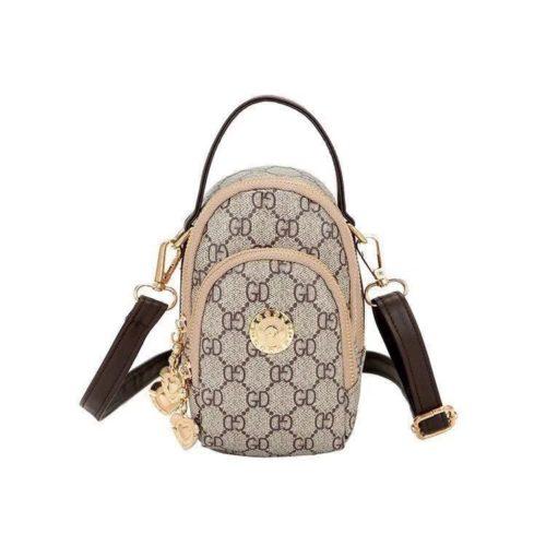 BTH048-brown Tas Slingbag Wanita Lucu Import