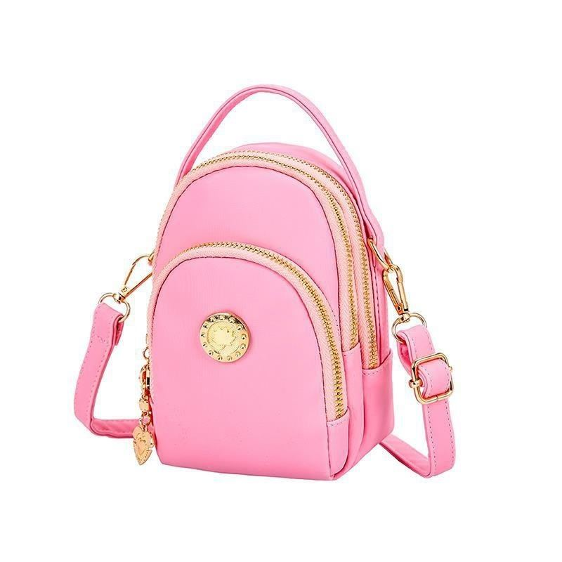 BTH048 JKT IDR.60.000  MATERIAL CANVAS SIZE L12XH18XW7CM WEIGHT 350GR (2 TALI) COLOR PINK