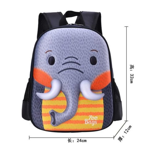 BTH097-elephant Tas Ransel Anak Unisex Lucu Motif Animal