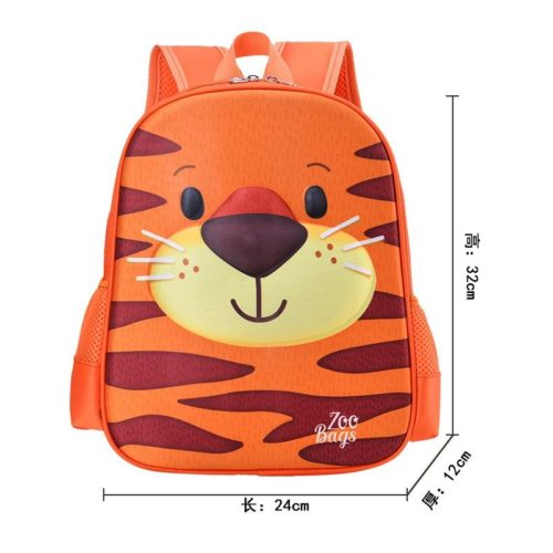 BTH097-tiger Tas Ransel Anak Unisex Lucu Motif Animal