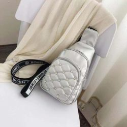 BTH1039-silver Sling Bag Fashion Wanita Elegan Import