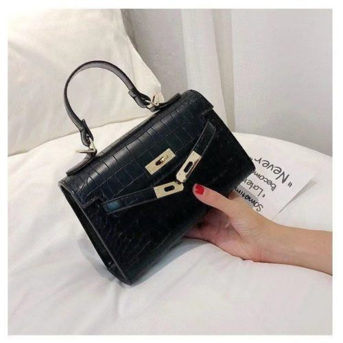 BTH125452-black Tas Handbag Selempang Wanita Elegan Cantik