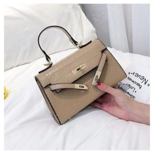 BTH125452-khaki Tas Handbag Selempang Wanita Elegan Cantik