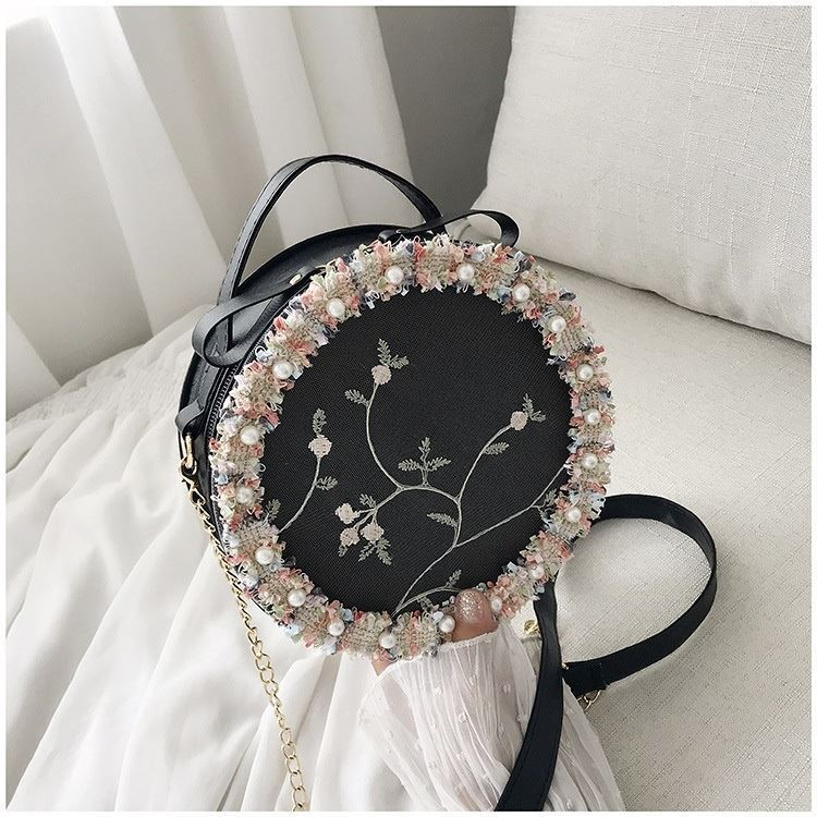 BTH13397 IDR.50.000 MATERIAL PU+LACE SIZE L19XH19XW6CM WEIGHT 250GR COLOR BLACK