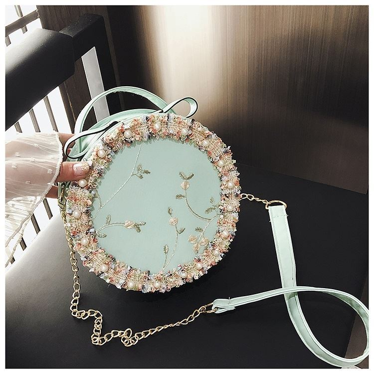 BTH13397 IDR.50.000 MATERIAL PU+LACE SIZE L19XH19XW6CM WEIGHT 250GR COLOR GREEN