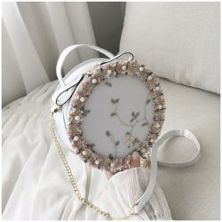 BTH13397-white Slingbag Circle Stylish Cantik Import